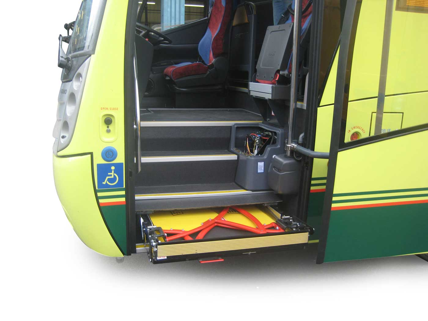 Concealed coach wheelchair passenger lift
