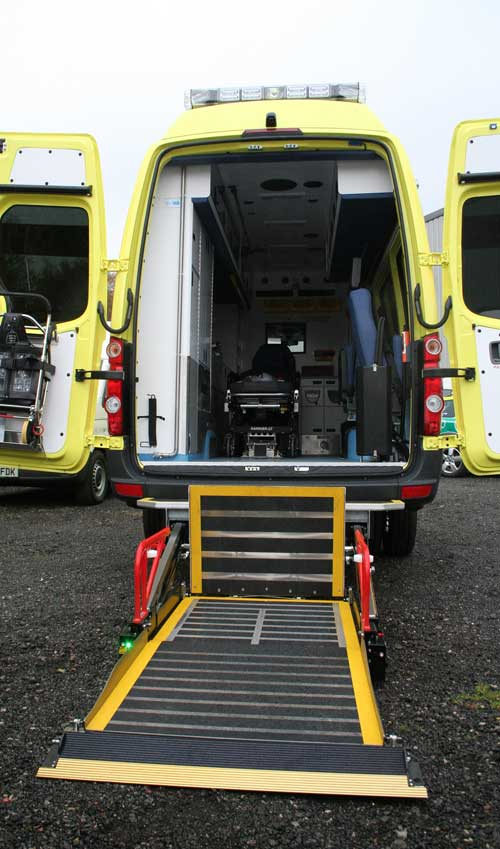 wheelchair lift ambulance